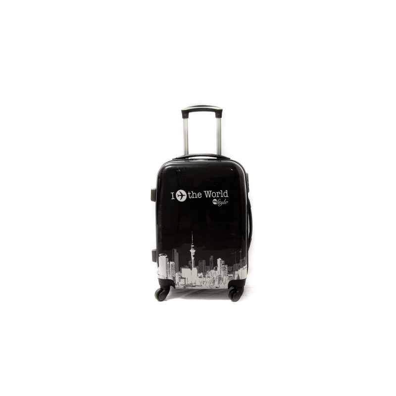 """Valise taille cabine 4 roues 55cm Polycarbonate - Trolley ADC """"World"""" Rigide."""