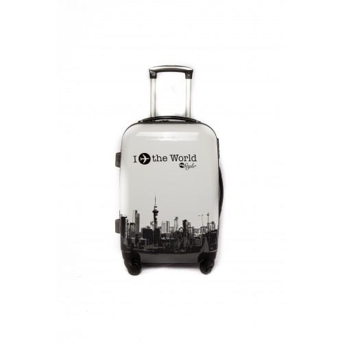 "Valise taille cabine 4 roues 55cm Polycarbonate - Trolley ADC ""World"" Rigide."