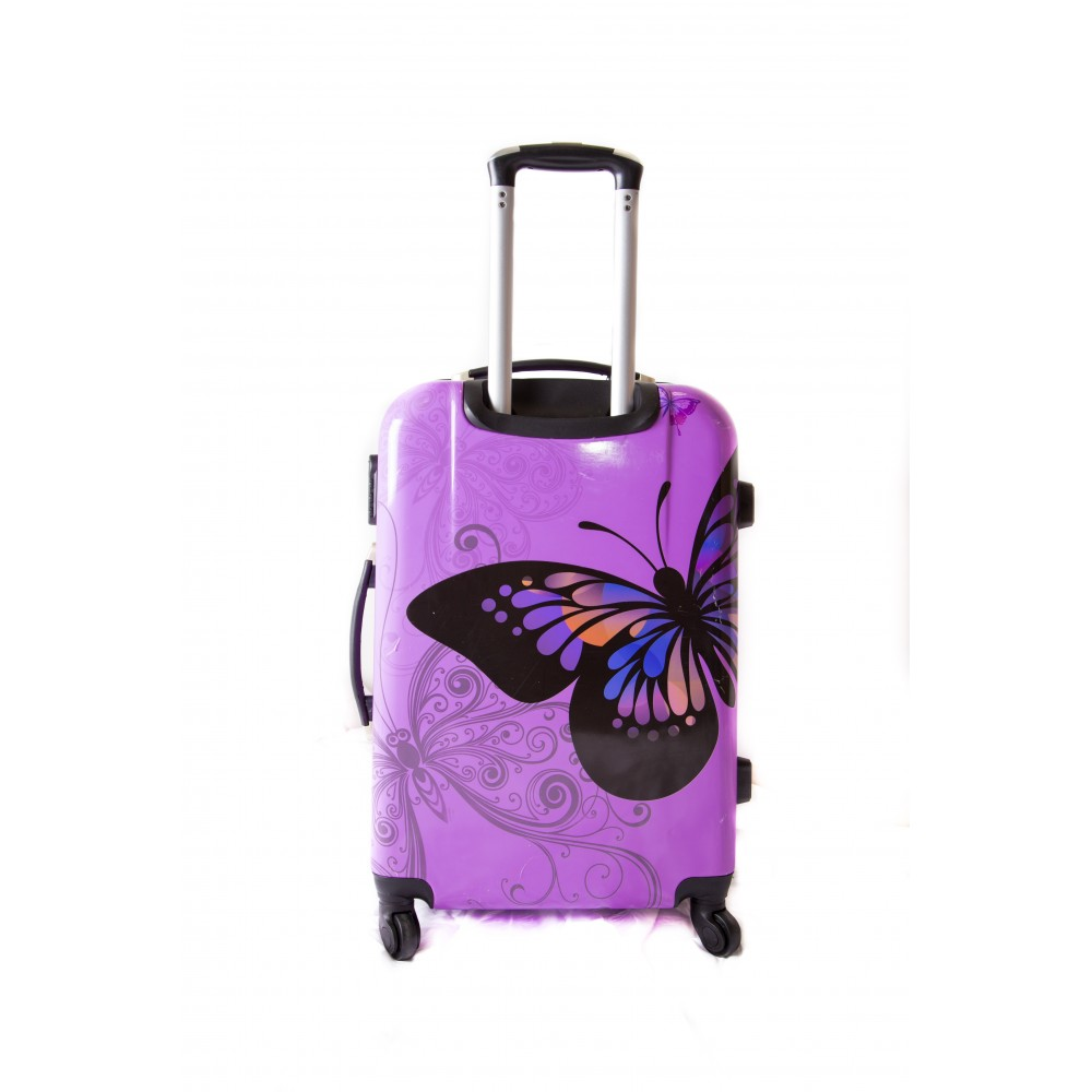 valise taille moyenne 4 roues 65cm polycarbonate trolley adc butterfly rigide. Black Bedroom Furniture Sets. Home Design Ideas