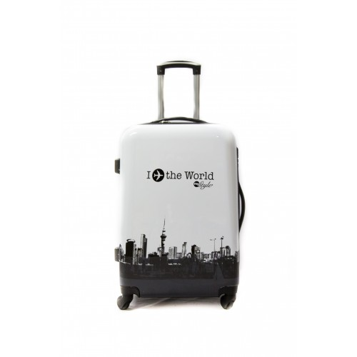 "Valise Taille Moyenne 4 roues 65cm Polycarbonate - Trolley ADC ""World"" Rigide."