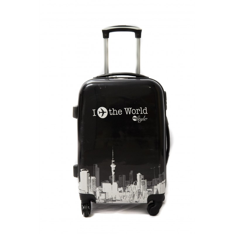 valise taille moyenne 4 roues 65cm polycarbonate trolley adc world rigide. Black Bedroom Furniture Sets. Home Design Ideas