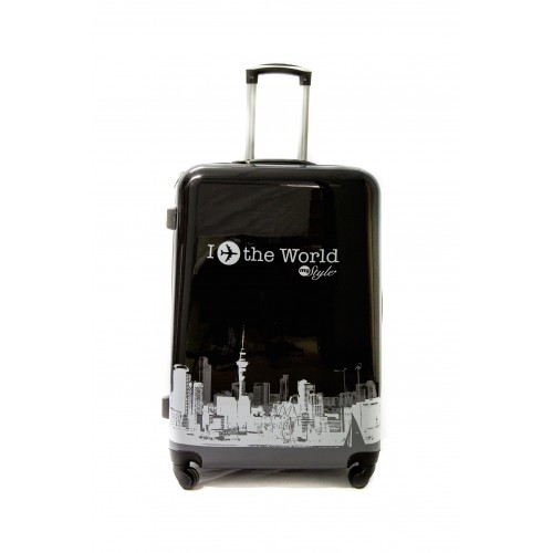 "Valise Grande taille 75cm 4 roues Polycarbonate - Trolley ADC ""World Rigide."