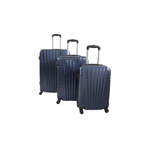 "Set de 3 valises rigide 4 roues - Trolley ADC ""Elegance""."