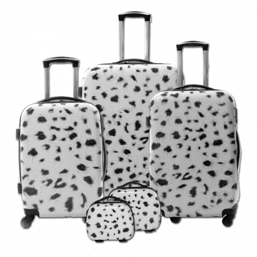 "Set de 3 valises + 2 vanity Polycarbonate - Trolley ADC ""Animals"""