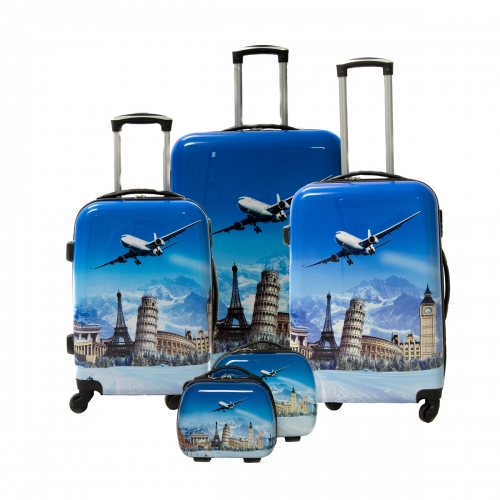 "Set de 3 valises + 2 vanity Polycarbonate - Trolley ADC ""Airport"""