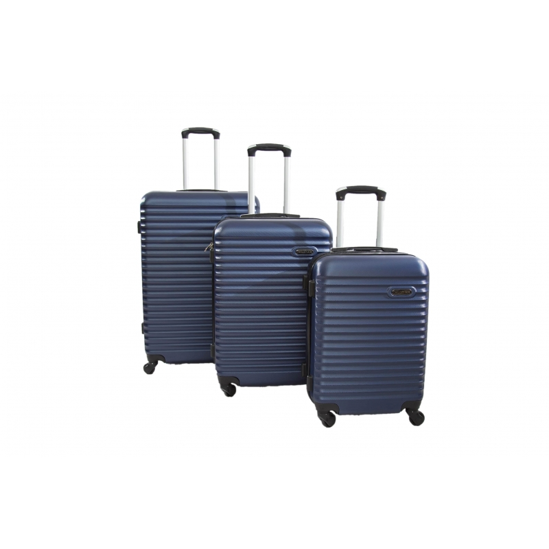 "Set de 3 valises 4 roues 360° ""Classiq"" ABS - Trolley ADC"