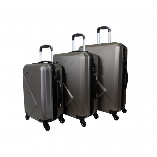 Set de 3 valises 4 roues ABS - SuperFly
