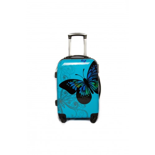 "Valise taille cabine 4 roues 55cm Polycarbonate - Trolley ADC ""Butterly"" Rigide."