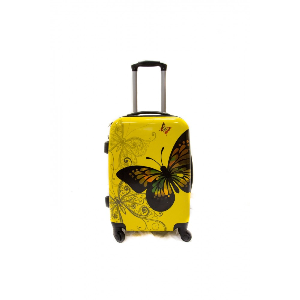 valise taille cabine 4 roues 55cm polycarbonate trolley adc butterly rigide. Black Bedroom Furniture Sets. Home Design Ideas